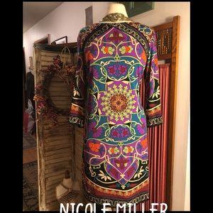 NWOT-14-NICOLE BY NICOLE MILLER BOLD PRINT DRESS